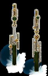 exclusive jewelery, unique jewelry, absinthe formula, tourmaline, diamonds, handmade, jeweler Igor Orlov
