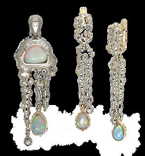 exclusive jewelery, unique jewelry, thaw, opals, diamonds, handmade, jeweler Igor Orlov