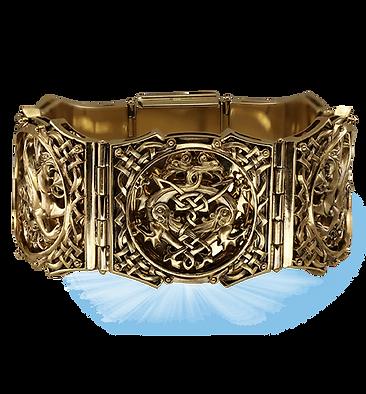 exclusive bracelet for men, griffins, unique jewelry, men's jewelry, handmade, engraving, gold bracelet for men, jeweler Igor Orlov