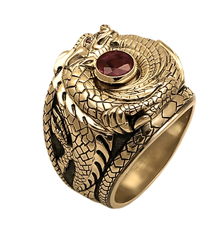 exclusive ring for men, dragon, ruby, unique jewelry, men's jewelry, handmade, engraving, gold ring for men, jeweler Igor Orlov