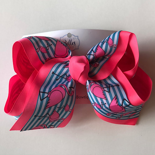 Double Layered Flamingo Bow