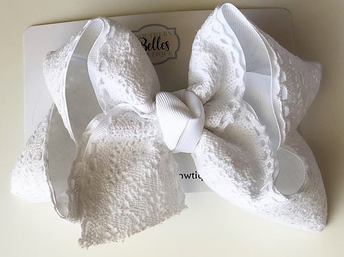 Double Layered White with White Crocheted Lace