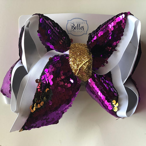 Purple and Gold Sequin Ribbon