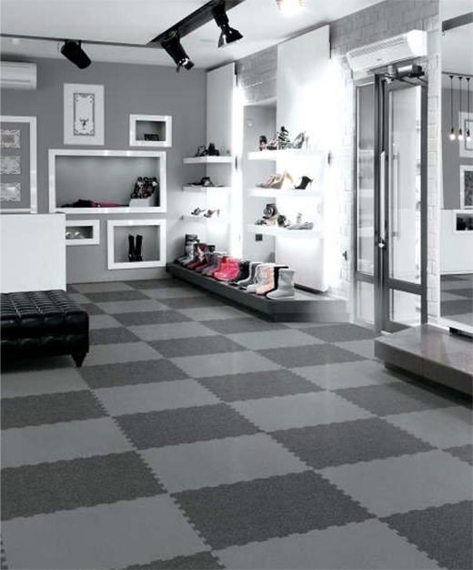 Grande Puzzle Tile - Dark + Grey