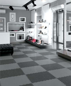 Grande Puzzle Tile - Dark + Grey