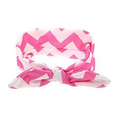 Pink Chevron Top Knot