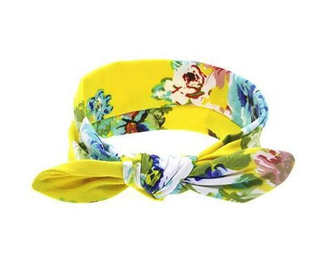Summer Yellow Floral Top Knot