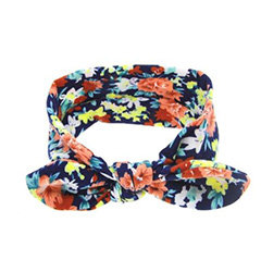 Navy Floral Top Knot