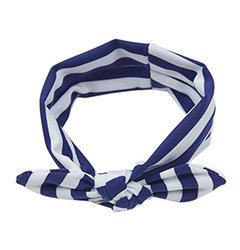 Navy Stripes Top Knot