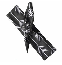 Charcoal Arrows Top Knot