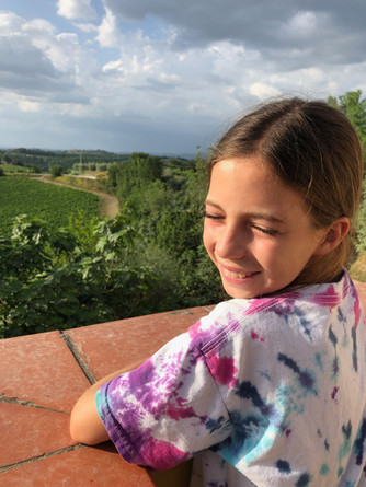 Ashley relaxing on a farm in Tuscany, Italy