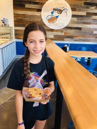 Ashley at the Baked Bear ice cream shop