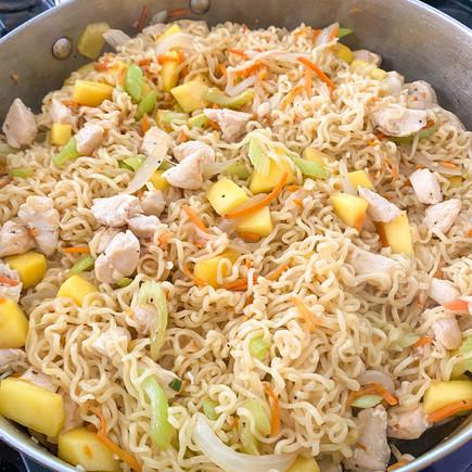 Stir Fried Chicken Mango Ramen
