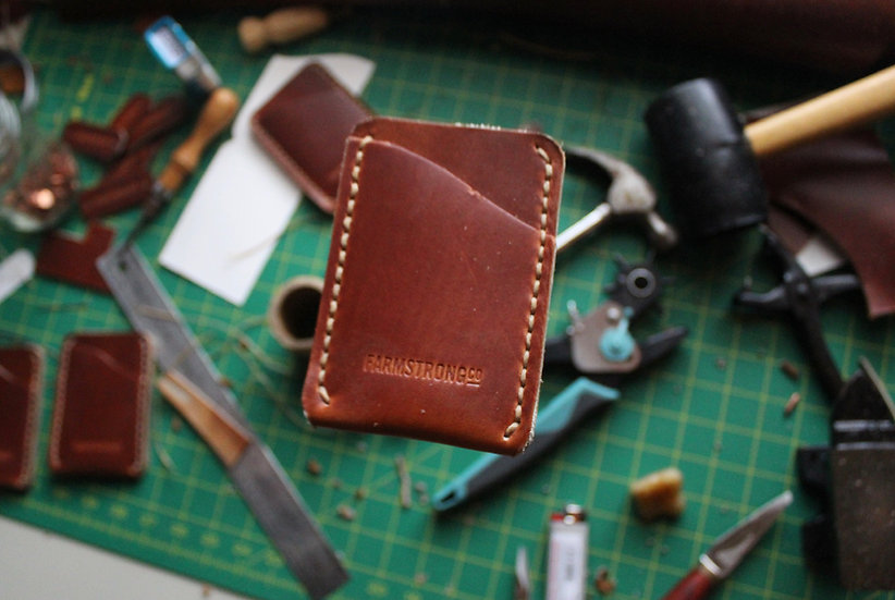 Whiskey Chromexcel Vertical Wallet