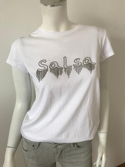T-shirt Logo Salsa argenté