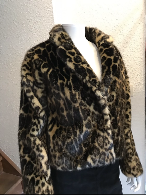 Veste fausse fourrure léopard