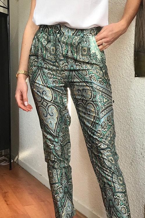 Pantalon Satin coloris Foulard