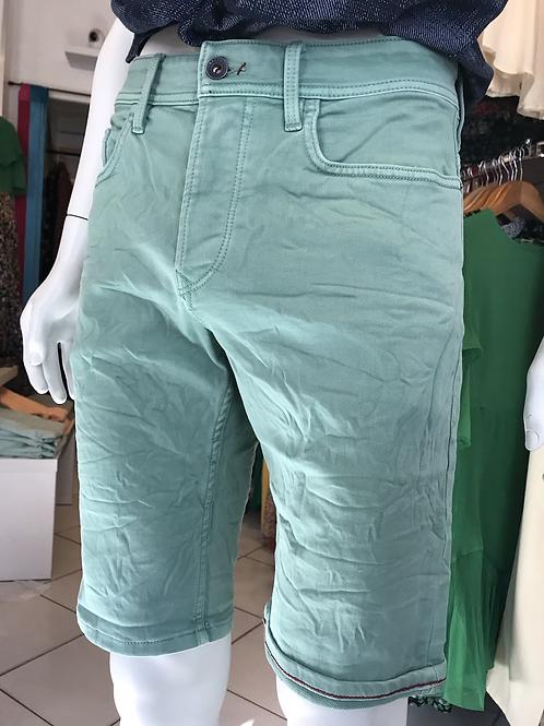 Bermudas toile vert menthe