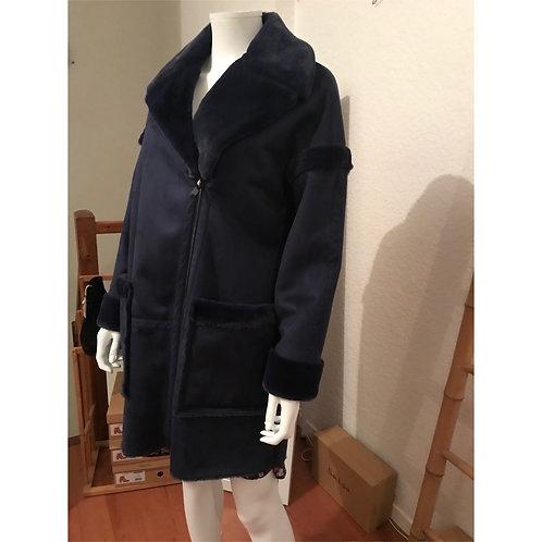 Manteau col et doublure fausse fourrure