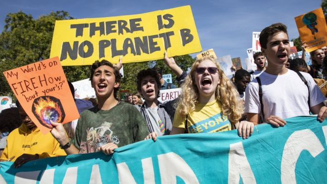Greta Thunberg protesters UN Climate Change summit 2019 Worldwide Breaking News