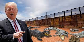 Mexican American Border Wall alligator-infested moat Worldwide Breaking News