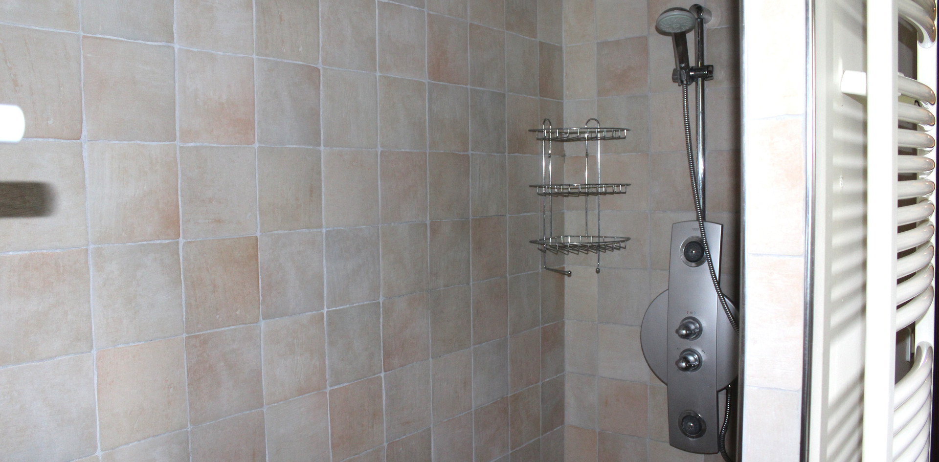 Updated tile shower