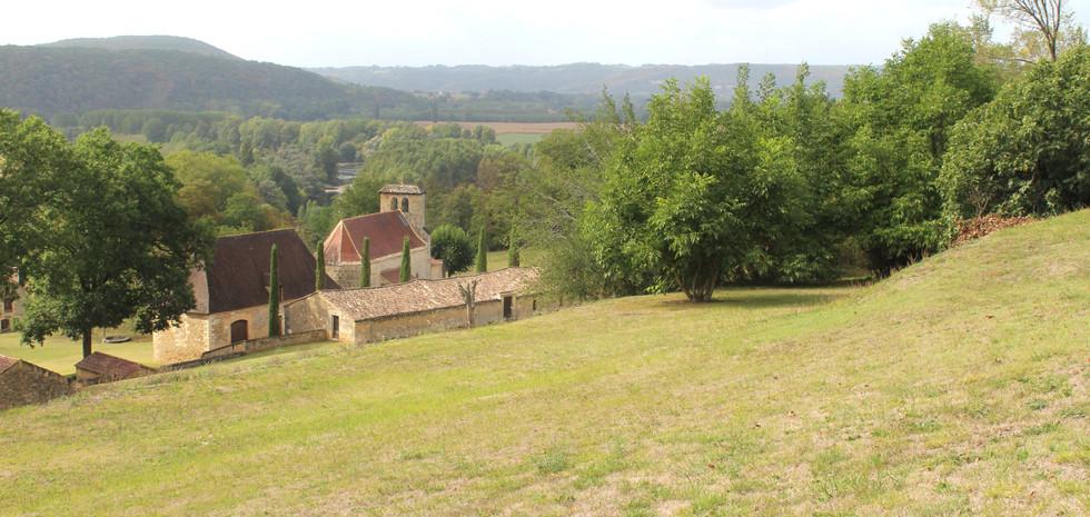 View overlooking the village of Bezenac