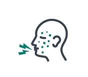 icon of a head with cough