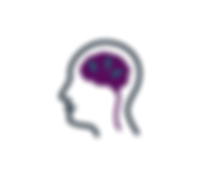 icon of brain with lightening bolts