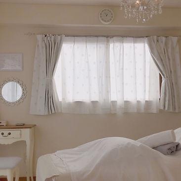 白を基調にしたお部屋も。