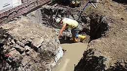footings for concrete raising and slab jacking