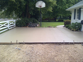 Exposed Concrete with sealer