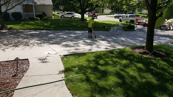 clean up driveway