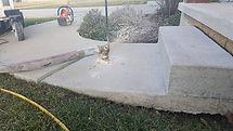 pumping mud below porch step