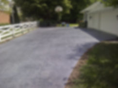 stamped concrete driveway finished