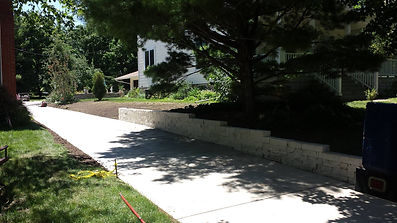 landscaping and hydroseeding paving patios retaining walls seating wall