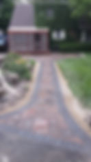 paver walk way with patio