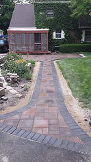 paver walk way with patio