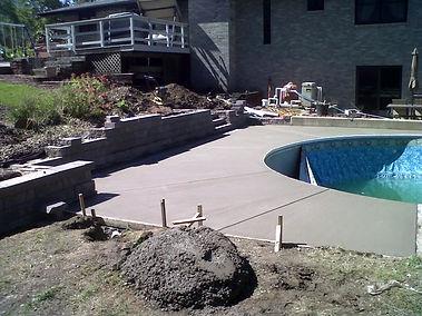 Sealed pool deck