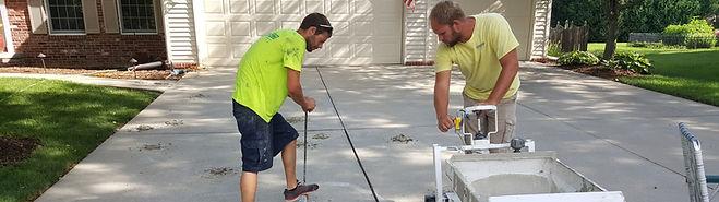 lifting concrete driveway HMI