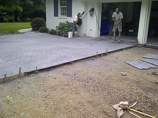 progress pictures coblestone driveway