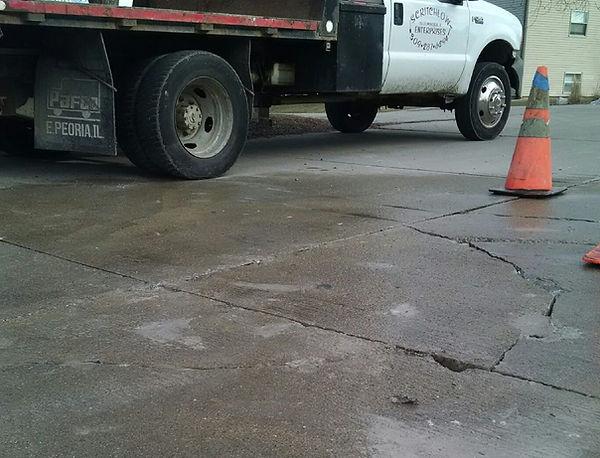 road repair after