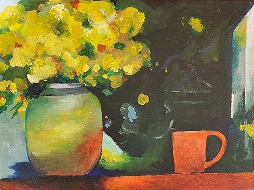 Painting Flower Vase (9x12)