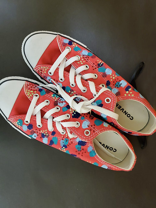 Painted Converse Pink Dots
