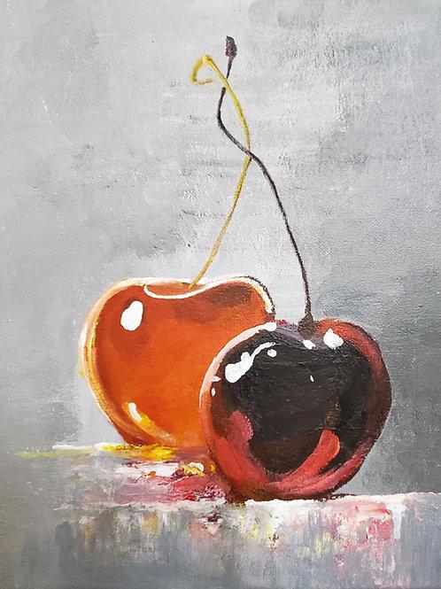 Painting Cherry (9x12)