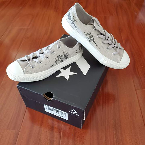Painted Converse Light Grey