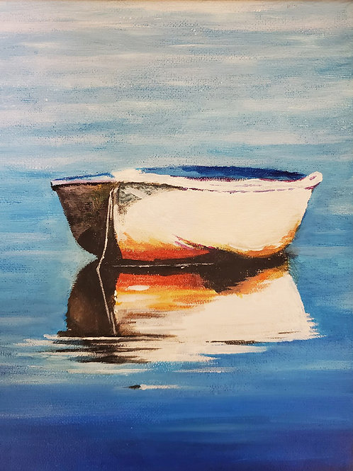 Painting Boat (8x10)