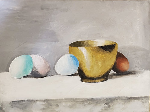 Painting Eggs (9x12)
