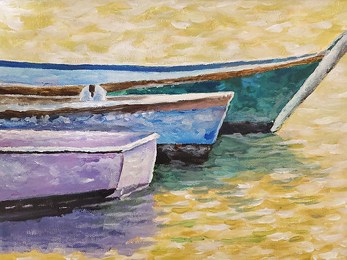 Painting Boats (9x12)