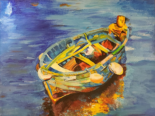 Painting Boat2 (9x12)